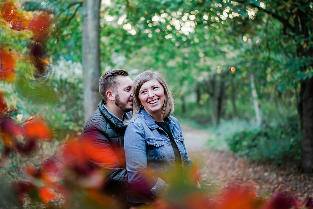 Autumn engagement shoot. 2019 wedding in Leicestershire