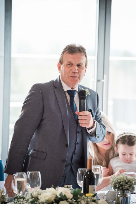 A very funny father of the bride speech! Darley and Underwood Photography - Leicestershire.