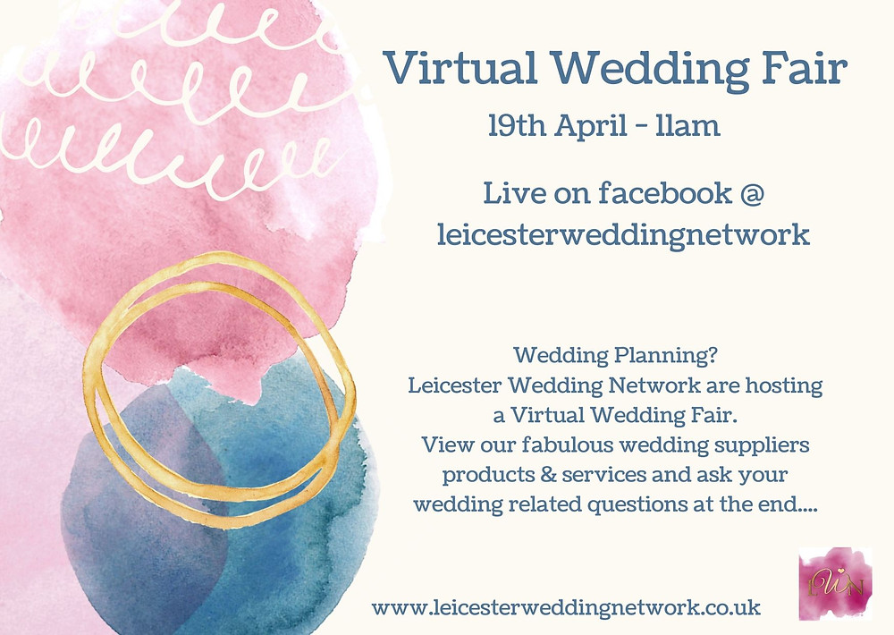 Leicester Wedding Network Facebook page virtual wedding fair promotional image
