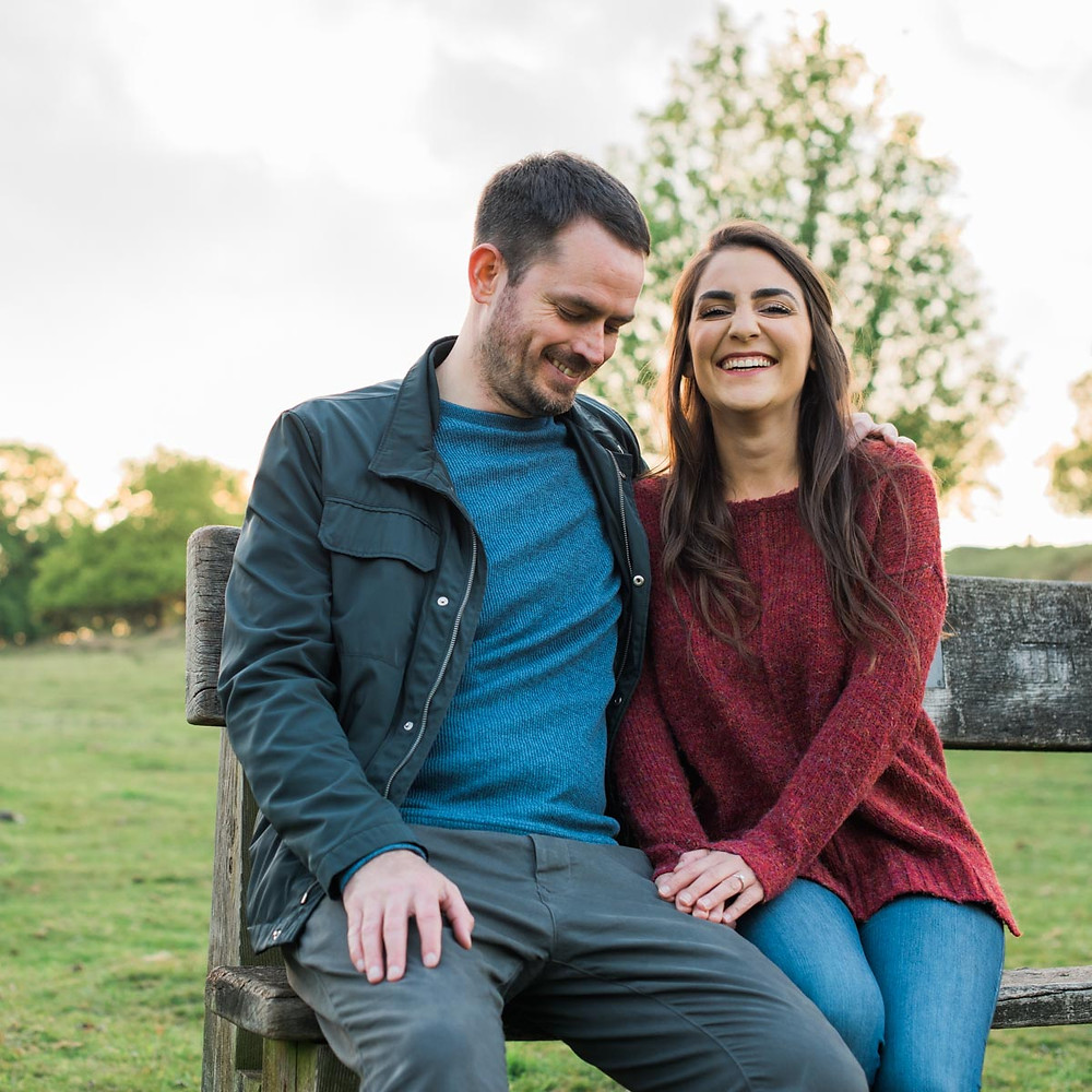 Northamptonshire wedding photography. Sunset engagement shoot in the Midlands