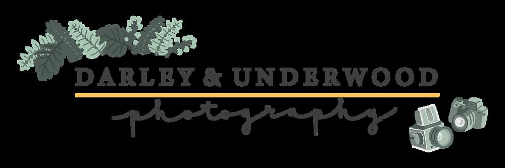 The New Darley and Underwood Photography Logo by Heledd Owen. Wedding Photography Digitally and on Film UK