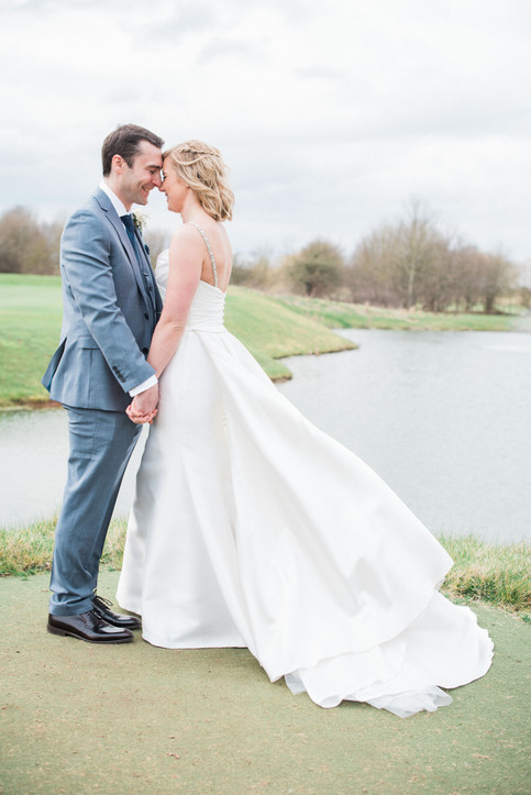 Magical wedding moments with the bride and groom. Nottinghamshire wedding venue photography.