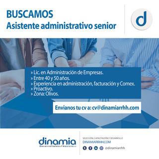 Asistente Administrativo Senior