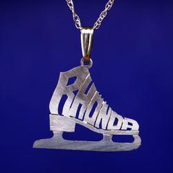 Silver roller skate pendant