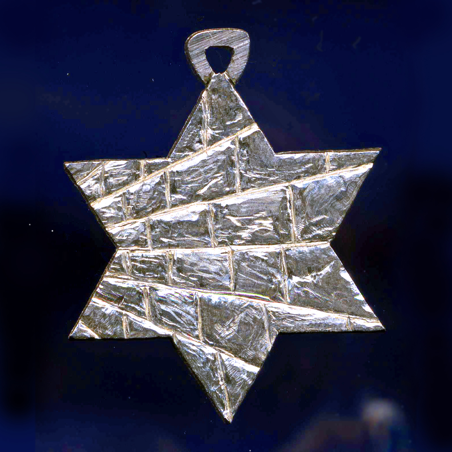Sterling Hebrew star of David