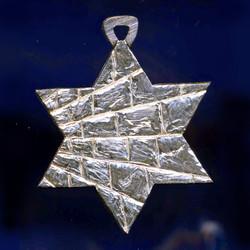Sterling Hebrew star of David