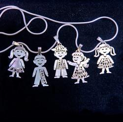 Silver kid pendants