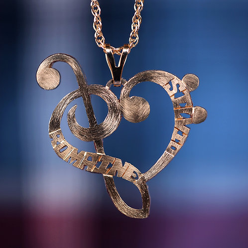 HRTM 1 Silver heart music note.