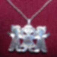 English boy girl name necklace.