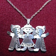 English boy girl name necklace.