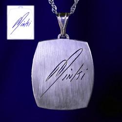 Signature silver necklace