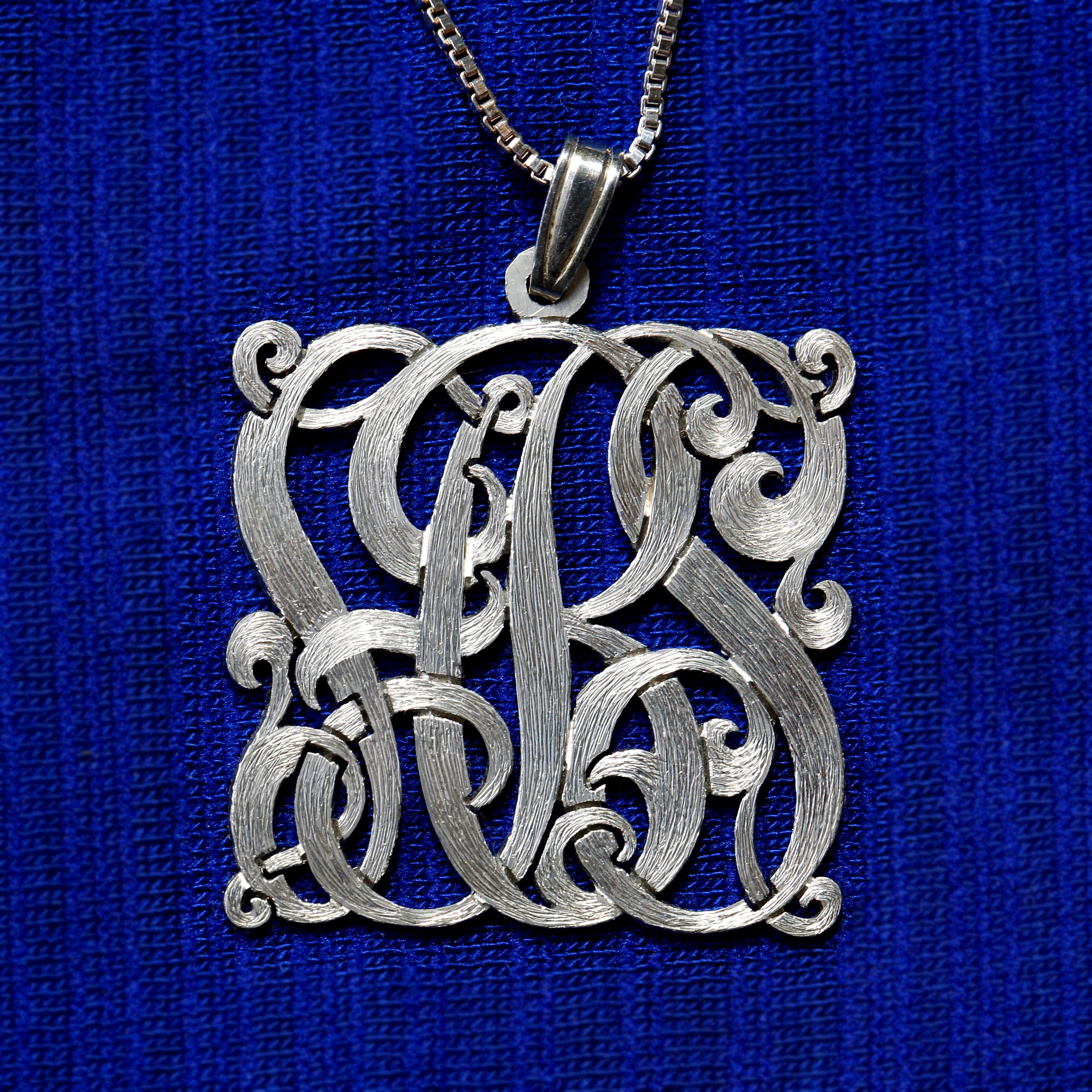 Square silver monogram