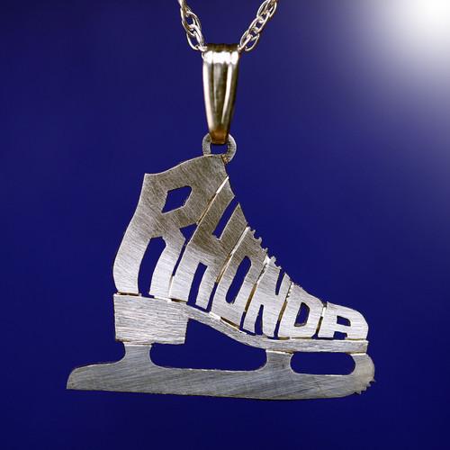 Your monogram name necklace ice skate roller skate jewelry necklace iskt 2 aloadofball Gallery