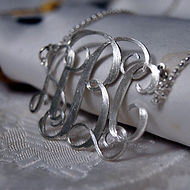 Monogram necklace pendant.