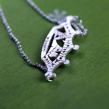 Hebrew crown name necklace
