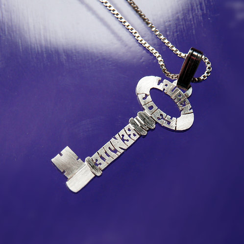 copy of KY 1 Silver Key name necklace