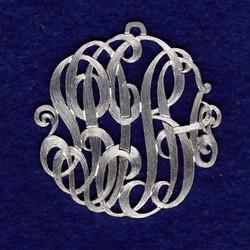 Silver monogram
