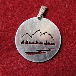 Teton mountain pendant