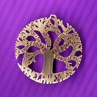 Family tree of life name necklace