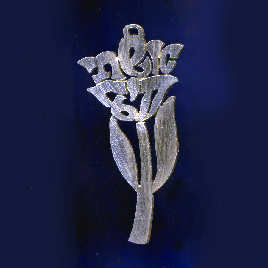 Silver Hebrew name rose
