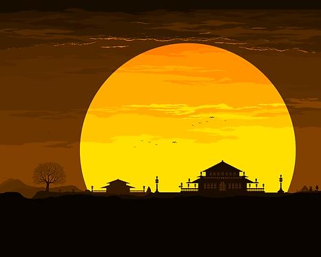 Sunset art 1