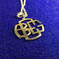personalized block font monogram necklace.