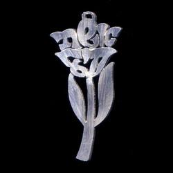 silver_hebrew_name_flower_rose_necklace