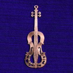 Red gold Hebrew violin