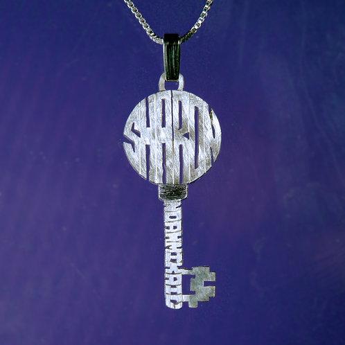 KY 1 Silver Key name necklace