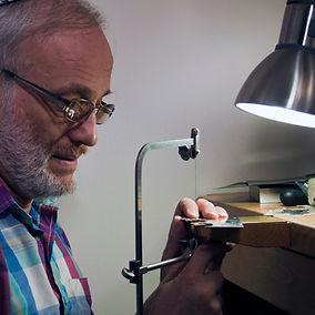 Ely in his workshop