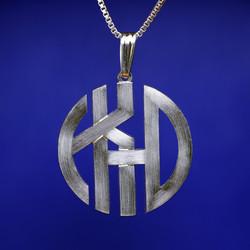 Block monogram pendant