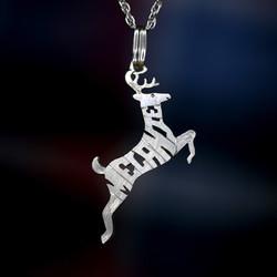 Silver Elk necklace