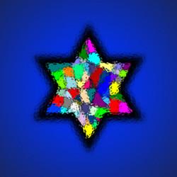 Hebrew Megan David art