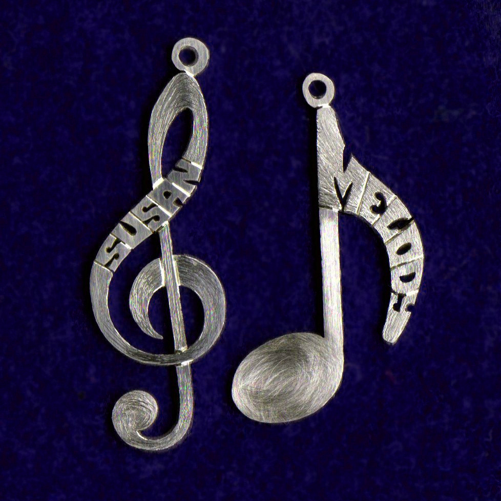 Silver notes pendants