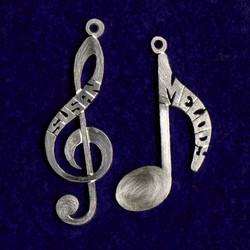 Silver notes pendants