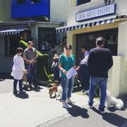 Concerned residents gather to sign-up to stop demolition of 1 Vic Ave