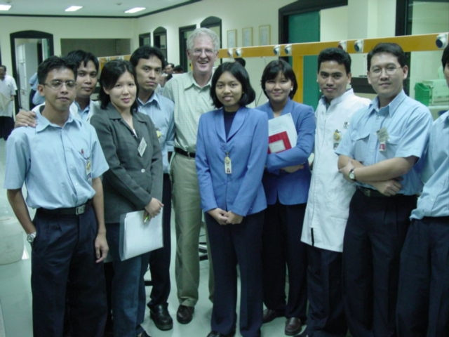 Ed Durgin - With flour mill team in Indo