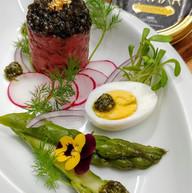 Beef tartar and caviar - appetizer