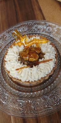 Walnuts and salter butter caramel tart.j