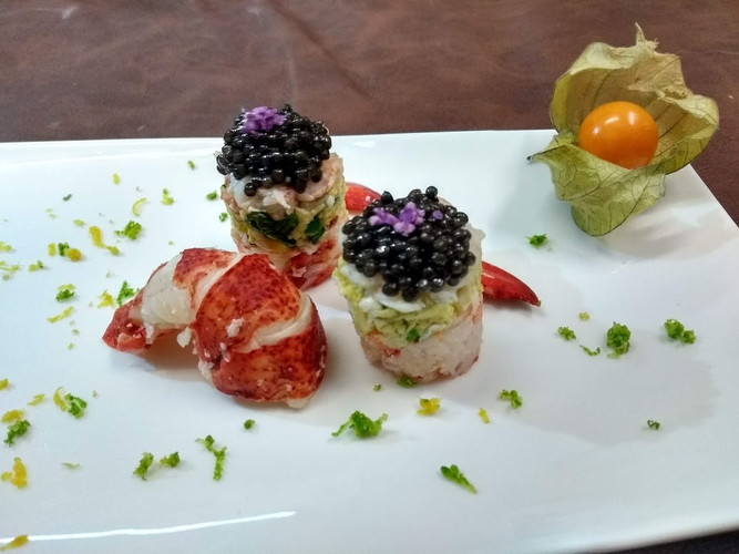 Lobster and caviar
