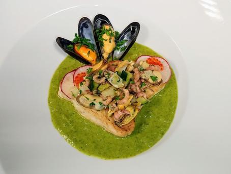 Radish leaves sauce with white tuna