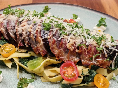 Eggplant millefeuille