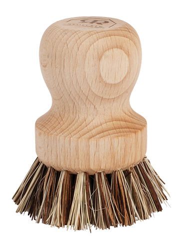 Pot Brush w/Beerchwood Handle and Natural Fibres