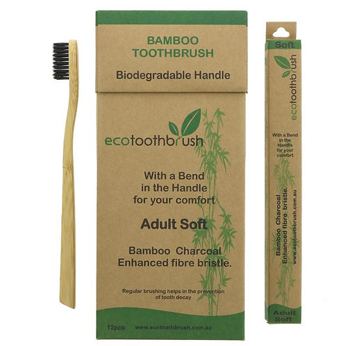 Ecotoothbrush Adult Charcoal | Medium