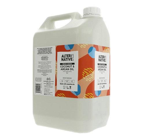 Alter/Native Coconut & Argan Body Wash 500ml in Glass Bottle (£1.10/100g)