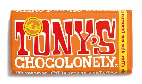 Tony's Chocolonely Milk Choc Caramel/Sea Salt 180g