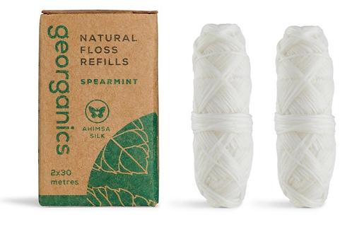 GEORGANICS Natural Silk Floss Refill - Spearmint