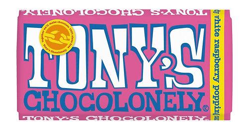 Tony's Chocolonely White Chocolate & Raspberry 180g