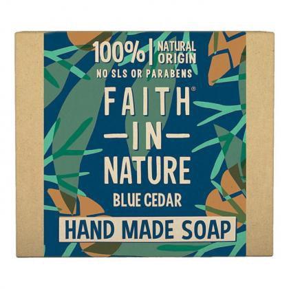 Faith in Nature Blue Cedar Soap Bar 100g