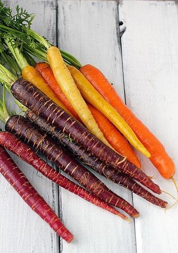 Organic Rainbow Carrots 500g (£2.30/kg)